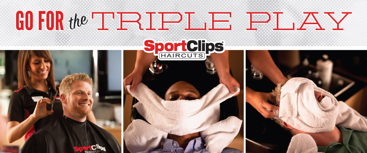The Sport Clips Haircuts of The Woodlands-College Park Center Triple Play